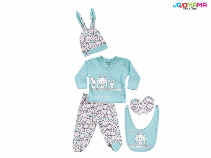 LITTİE PRİNCESS KIZ BEBE 5Lİ ZIBIN SET
