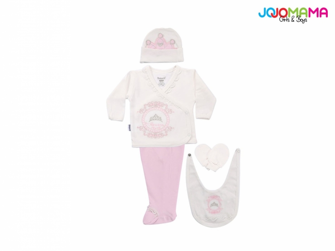 PRİNCESS KIZ BEBE 5Lİ ZIBIN SET
